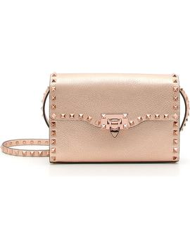 Rockstud Medium Metallic Leather Shoulder Bag by Valentino Garavani