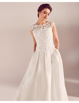Embroidered Applique Bodice Wedding Dress by Ted Baker