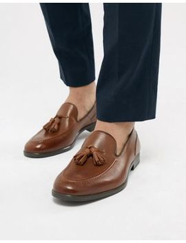 H By Hudson Aylsham Leather Loafers In Tan by Hudson London