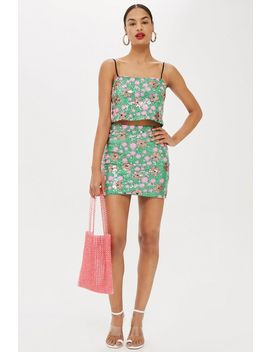 Flower Sequin Mini Skirt by Topshop