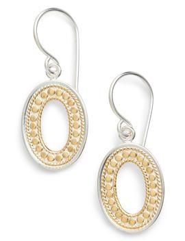 Open Oval Drop Earrings by Anna Beck