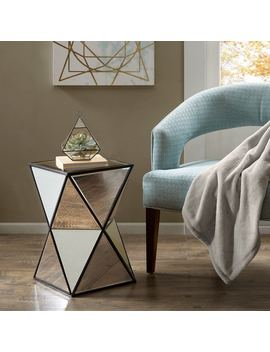 Clay Alder Home Campbell Blick Silver Angular Mirror Accent Table by Clay Alder Home