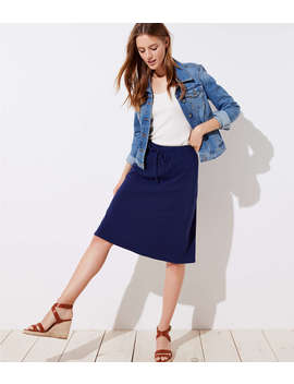 Drawstring Full Skirt by Loft