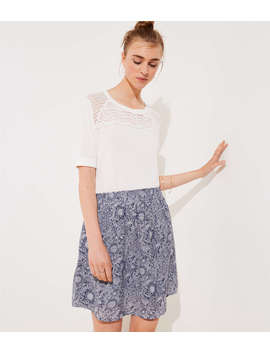 Floral Pocket Pull On Skirt by Loft