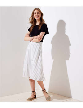 Striped Midi Skirt by Loft