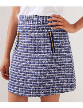 Tweed Zip Pocket Shift Skirt by Loft