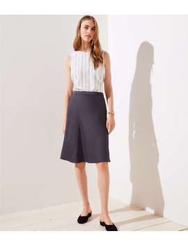 Satin Midi Skirt by Loft