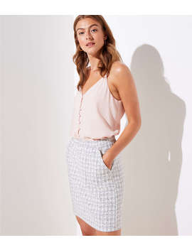 Checked Jacquard Pull On Skirt by Loft