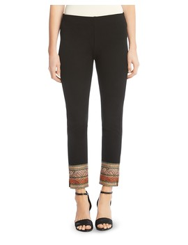 Piper Ribbon Cuff Skinny Pants by Karen Kane