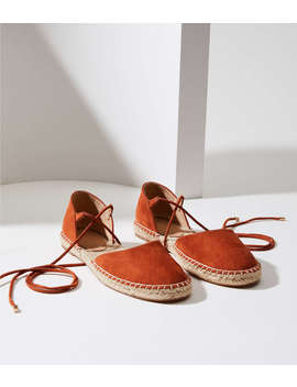 Lace Up Espadrille Flats by Loft