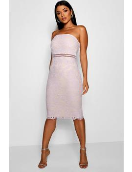 Katherine Lace Bandeau Midi Dress by Boohoo