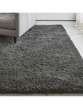 Memphis Ii Steel Grey Shag Rug by Crate&Barrel
