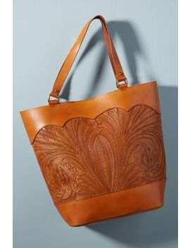 Embossed Leather Tote by Anthropologie