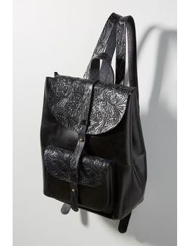 Embossed Leather Backpack by Anthropologie