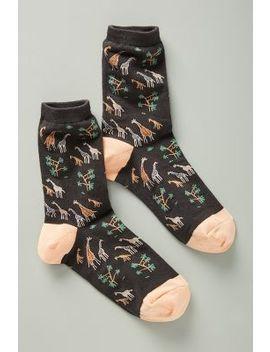 giraffe-print-crew-socks by hansel-from-basel