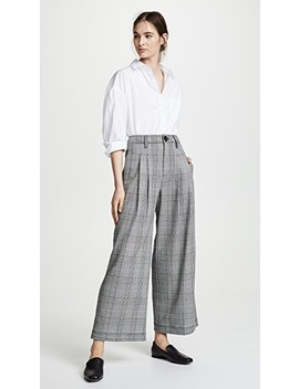 Checkered Wide Leg Pants by Madewell