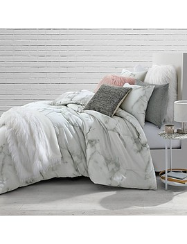 Marble Twin/Twin Xl Comforter Set In White/Black by Bed Bath And Beyond