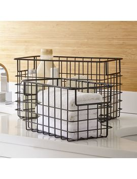 Black Wire Baskets by Crate&Barrel
