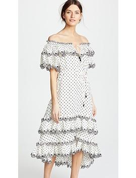 Jaya Scallop Tiered Long Dress by Zimmermann