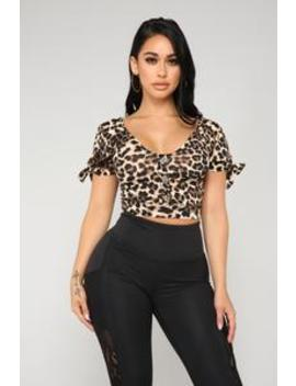 Don't Change A Thing Top   Brown by Fashion Nova