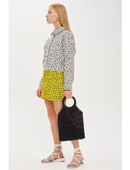 Monochrome Animal Print Shacket by Topshop