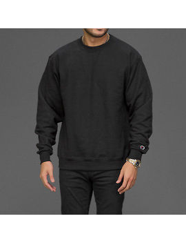 Champion Black And Red  Double Dry Eco Crewneck Sweatshirt Jumper   S600 by Ebay Seller