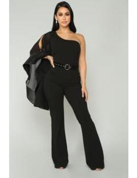 Don't Let Him Sleeve Jumpsuit   Black by Fashion Nova
