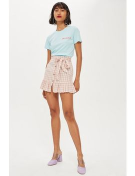 Rose Gingham Mini Skirt by Topshop