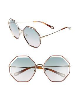 58mm Octagonal Halo Lens Sunglasses by ChloÉ