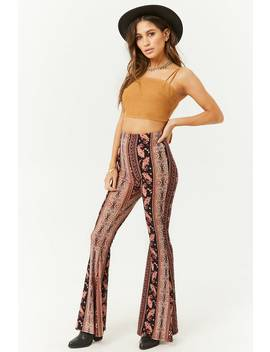 Ornate Paisley Flared Pants by Forever 21