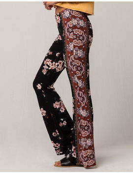 Sky And Sparrow Floral Print Womens Flare Pants by Sky And Sparrow