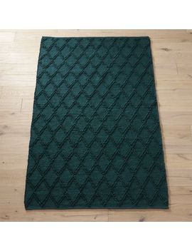 Carat Teal Jute Rug by Crate&Barrel