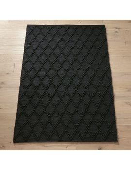 Carat Black Jute Rug by Crate&Barrel