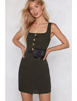 Button The Prowl Mini Dress by Nasty Gal