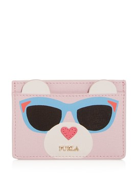 Allegra Embossed Leather Card Case by Furla