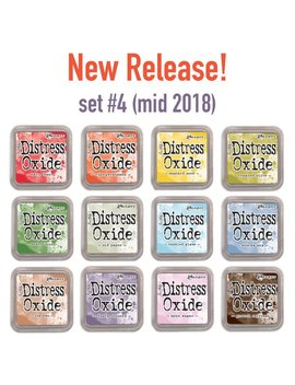 New Release! Set #4 Distress Oxide Ink Pads, Pre Order, By Tim Holtz (Mid 2018), All 12 Colors by Etsy