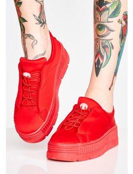Cherry Anti Gravity Platform Sneakers by Liliana