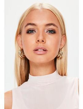Gold Triple Hoop Earrings by Missguided