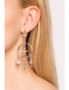 Crossing Saint Charm Drop Earrings by A'gaci