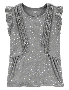 Polka Dot Ruffle Top by Carter's