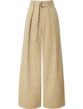 Rhodes Tencel And Cotton Blend Twill Wide Leg Pants by Ulla Johnson