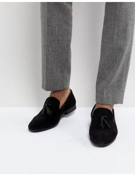 Silver Street Tassel Loafers In Black Suede by Shoes