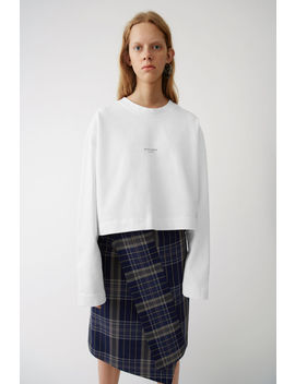 Cropped Sweater Optic White by Acne Studios
