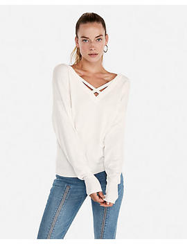 Double Vee Pullover Sweater by Express