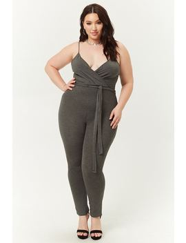 Plus Size Surplice Cami Jumpsuit by Forever 21