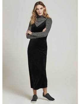 Black Velvet Maxi Slip Dress by Mint Velvet