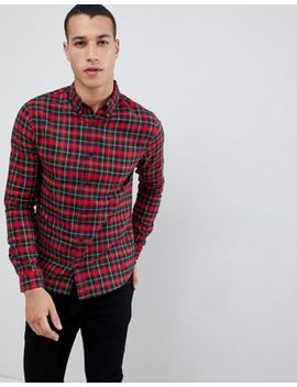 Burton Menswear Regular Fit Oxford Shirt In Tartan by Burton Menswear London
