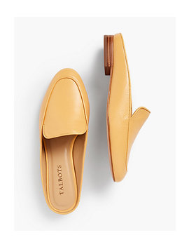 Frannie Pebble Leather Mules by Talbots