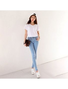 Women High Waist Skinny Jeggings Pencil Pants Slim Stretch Denim Jeans Lot Wh by Fullove365