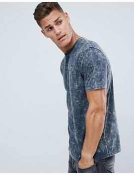 Asos Design Relaxed Longline T Shirt With Pocket In Acid Wash by Asos Design